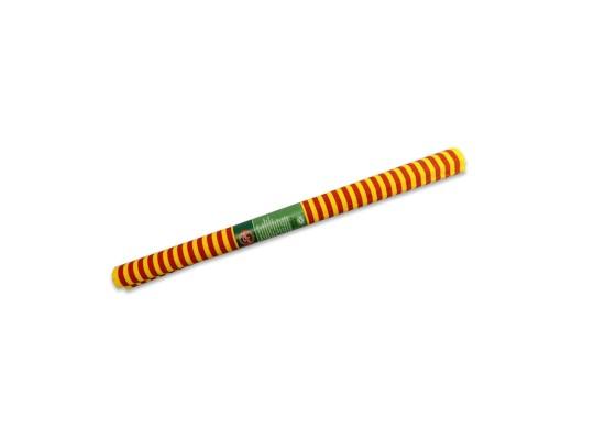 Papír krepový-200x50cm-pruhy-červené/žluté
