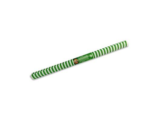 Papír krepový-200x50cm-pruhy-zelené/bílé