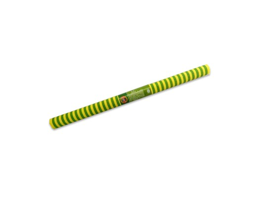 Papír krepový-200x50cm-pruhy-zelené/žluté
