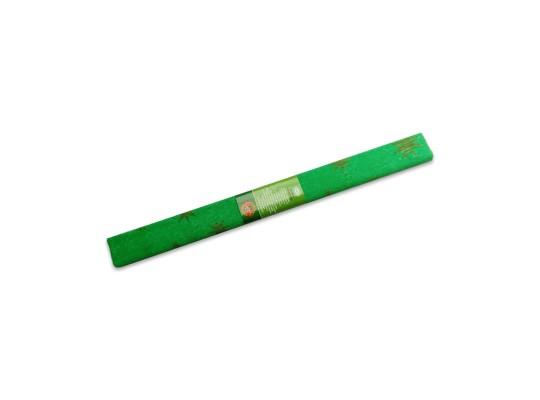 Papír krepový-200x50cm-zelený/hvězdy zlaté