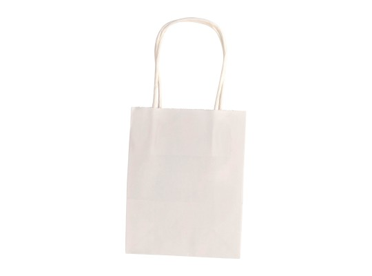 Taška z papíru bílá-malá