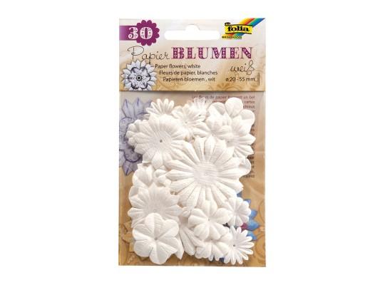 Květina papírová bílá