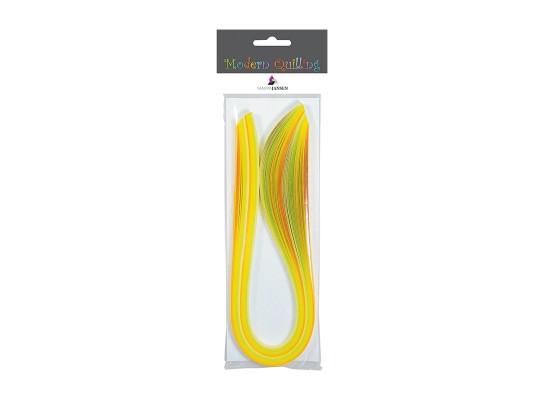Quilling-proužky z papíru-odstíny žluté