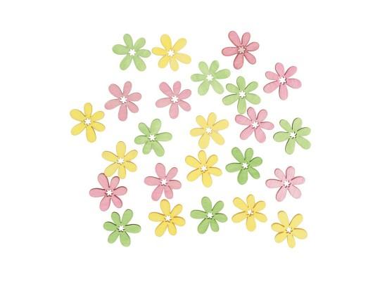 Květina dřevěná barevná