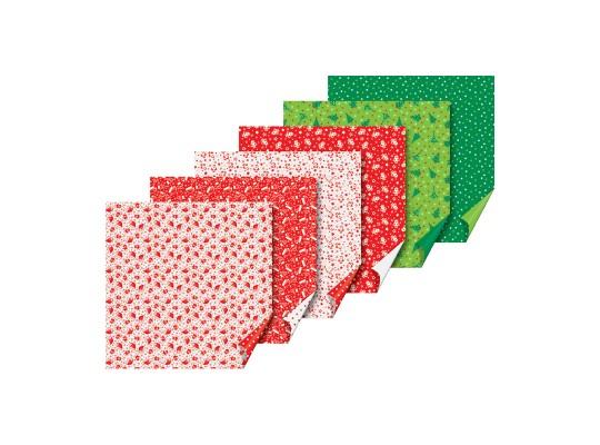 Papír na skládání-origami-vánoční