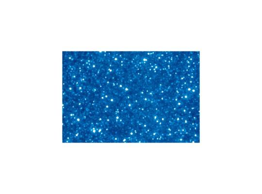 Pěnovka moosgummi samolepicí třpytivá-archy-modrá