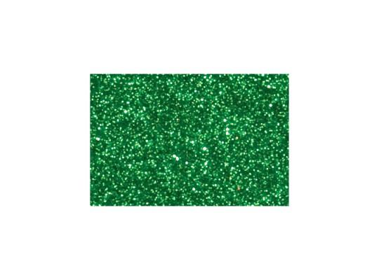 Pěnovka moosgummi samolepicí třpytivá-archy-zelená