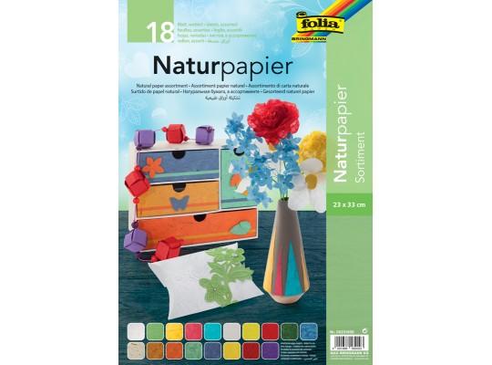Papír přírodní barevný-sada vzorová II.