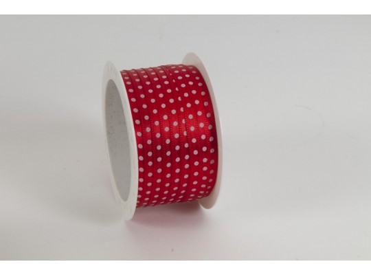 Stuha puntíkovaná-červená