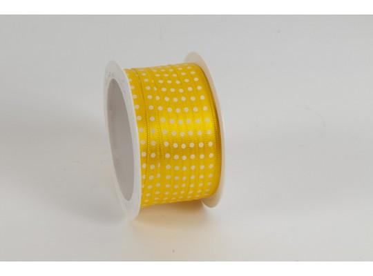 Stuha puntíkovaná-žlutá