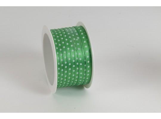 Stuha puntíkovaná-zelená