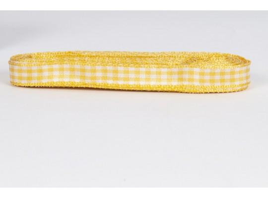 Stuha kostkovaná-žlutá