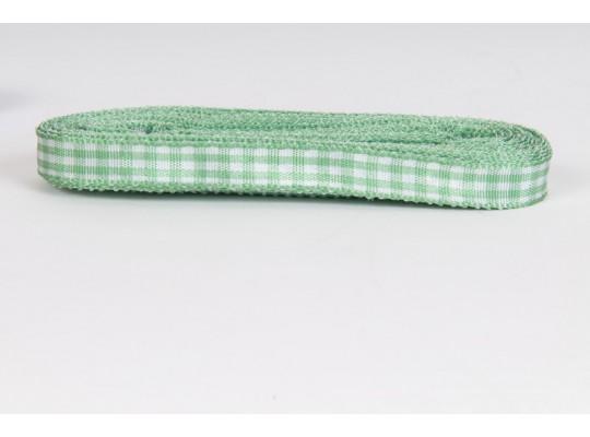 Stuha kostkovaná-zelená
