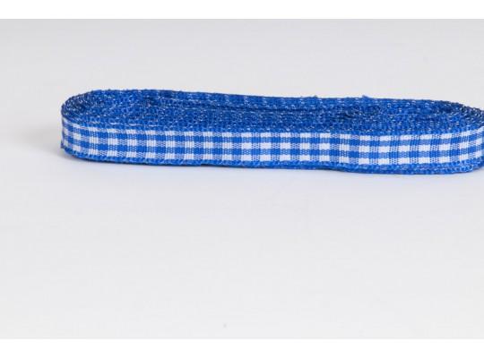 Stuha kostkovaná-modrá