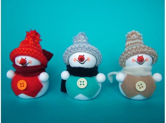 Sada kreativní vatová-sněhulák ve vestě