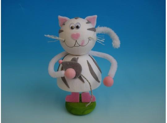 Sada kreativní vatová-kočka