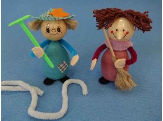 Sada kreativní vatová-čarodějnice a strašák