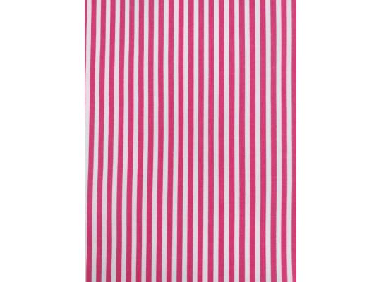 Látka dekorační-bavlna-š.150x100cm-potisk-pruh-bílá/růžová