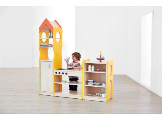 Sestava hrací-Kuchyň-barevná-dekor buk