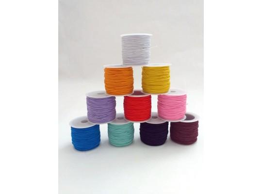 Guma pruženka-kulatá-klobouková-barevná-1mm