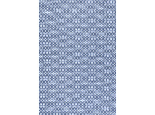Látka dekorační-bavlna-š.150x100cm-potisk-kytička-bílá/krémová/modrá tmavá