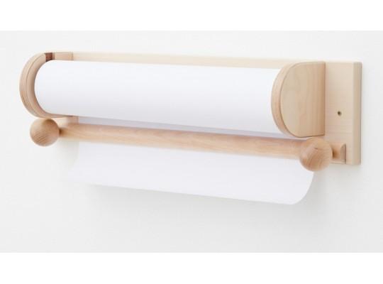 Držák dřevěný-na role papírové-dekor buk