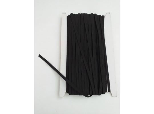 Guma pruženka-plochá-černá-6mm