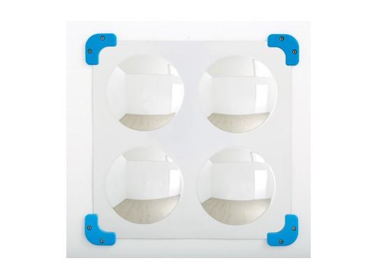 Zrcadlo konvexní-4 zakřivení-49x49cm