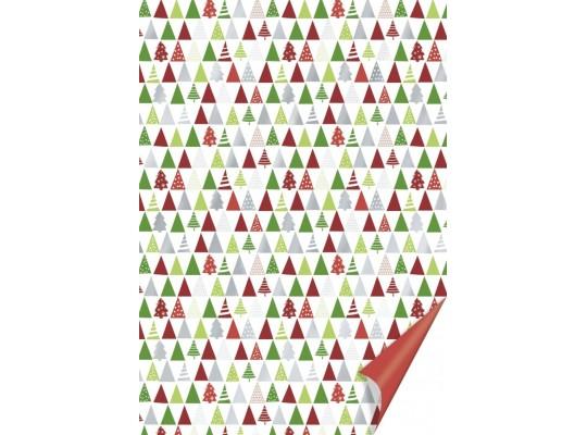 Fotokarton-300g/m2-50x70cm-stromek-červený/zelený/stříbrný