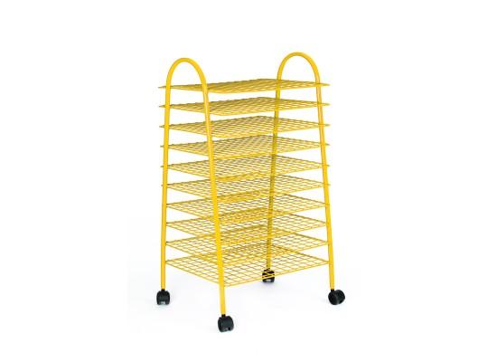 Sušák drátěný pojízdný-žlutý
