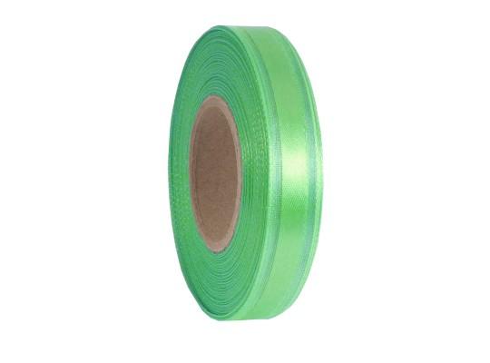 Stuha dekorační-monofilová-zelená světlá-vlasec-pruh atlasový