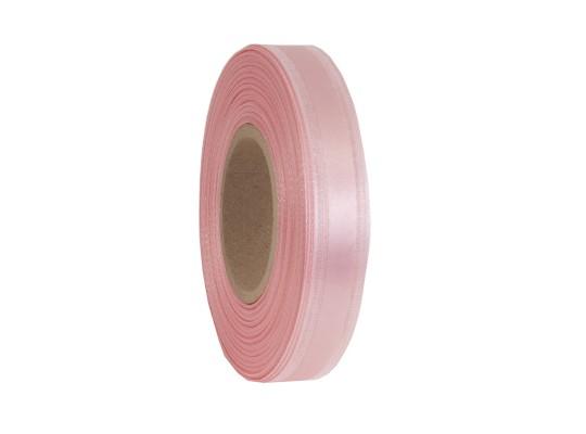 Stuha dekorační-monofilová-růžová světlá-vlasec-pruh atlasový