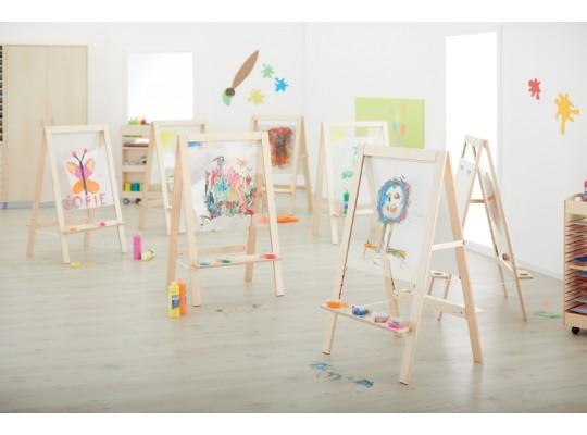 Tabule malířská dětská-dekor buk/sklo akrylátové