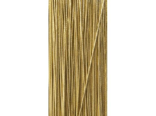 Guma pruženka-kulatá-klobouková-zlatá-1mm