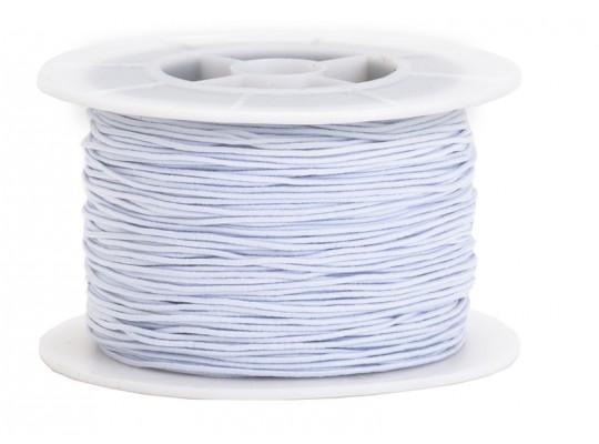 Guma pruženka-kulatá-klobouková-bílá-1mm
