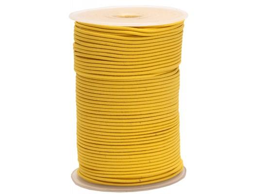 Guma pruženka-kulatá-klobouková-žlutá-2mm