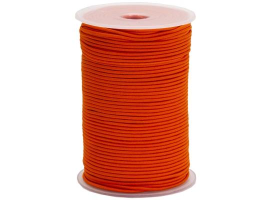 Guma pruženka-kulatá-klobouková-oranžová-2mm