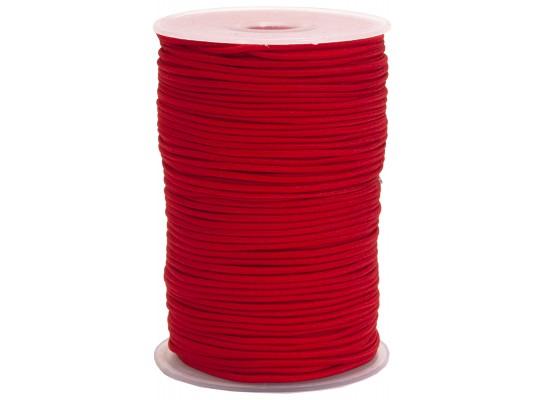 Guma pruženka-kulatá-klobouková-červená-2mm