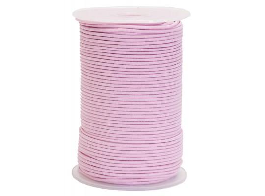 Guma-pruženka-kulatá-klobouková-růžová světlá-2mm