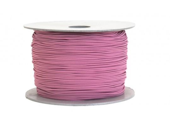 Guma-pruženka-kulatá-klobouková-růžová světlá-1,6mm