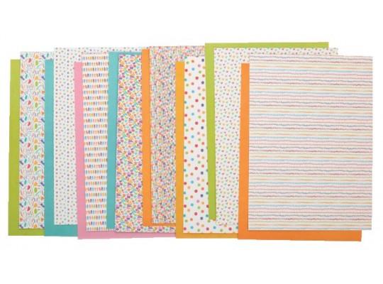 Karton-160g/m2-25x35cm-dekorační-motivy barevné-40ks