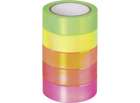 Páska papírová Washi Tape-neonová-duhová