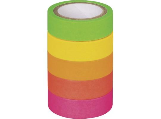 Páska papírová Washi Tape-neonová-matná