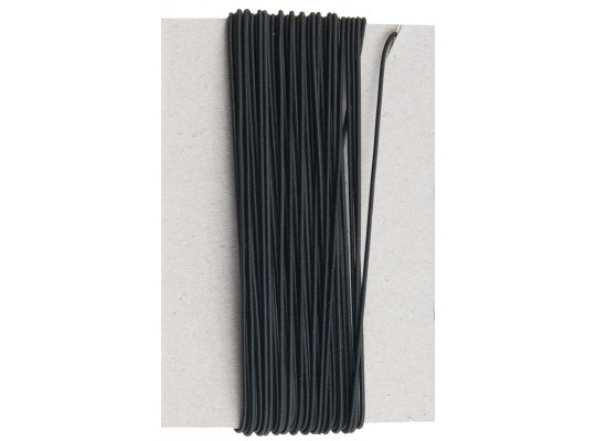 Guma pruženka-kulatá-klobouková-černá-1mm