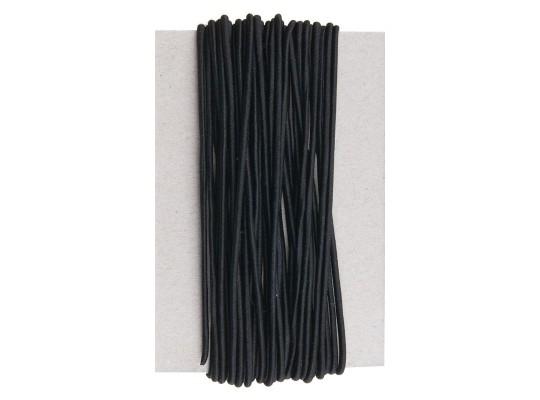 Guma pruženka-kulatá-klobouková-černá-2mm