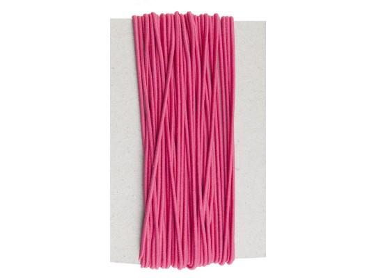 Guma pruženka-kulatá-klobouková-růžová-2mm