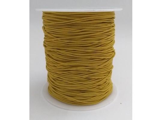 Guma pruženka-kulatá-klobouková-žlutá-okrová-1mm