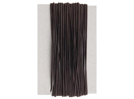 Guma-pruženka-kulatá-klobouková-hnědá tmavá-2mm