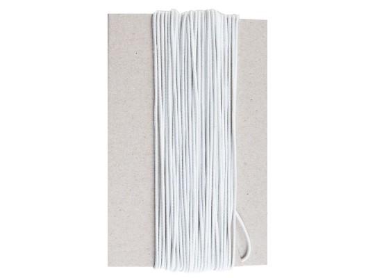 Guma pruženka-kulatá-klobouková-bílá-2mm
