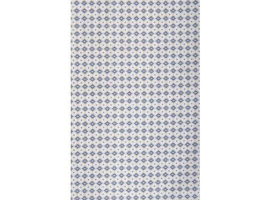 Látka dekorační-bavlna-š.150x100cm-potisk-kytička-krémová/modrá/hnědá světlá